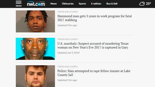 Рубрика «Преступления», nwitimes.com
