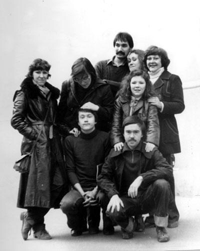 Пятый курс, перед госэкзаменами. Ирина Петровская  (стоит вторая слева), 1982 год