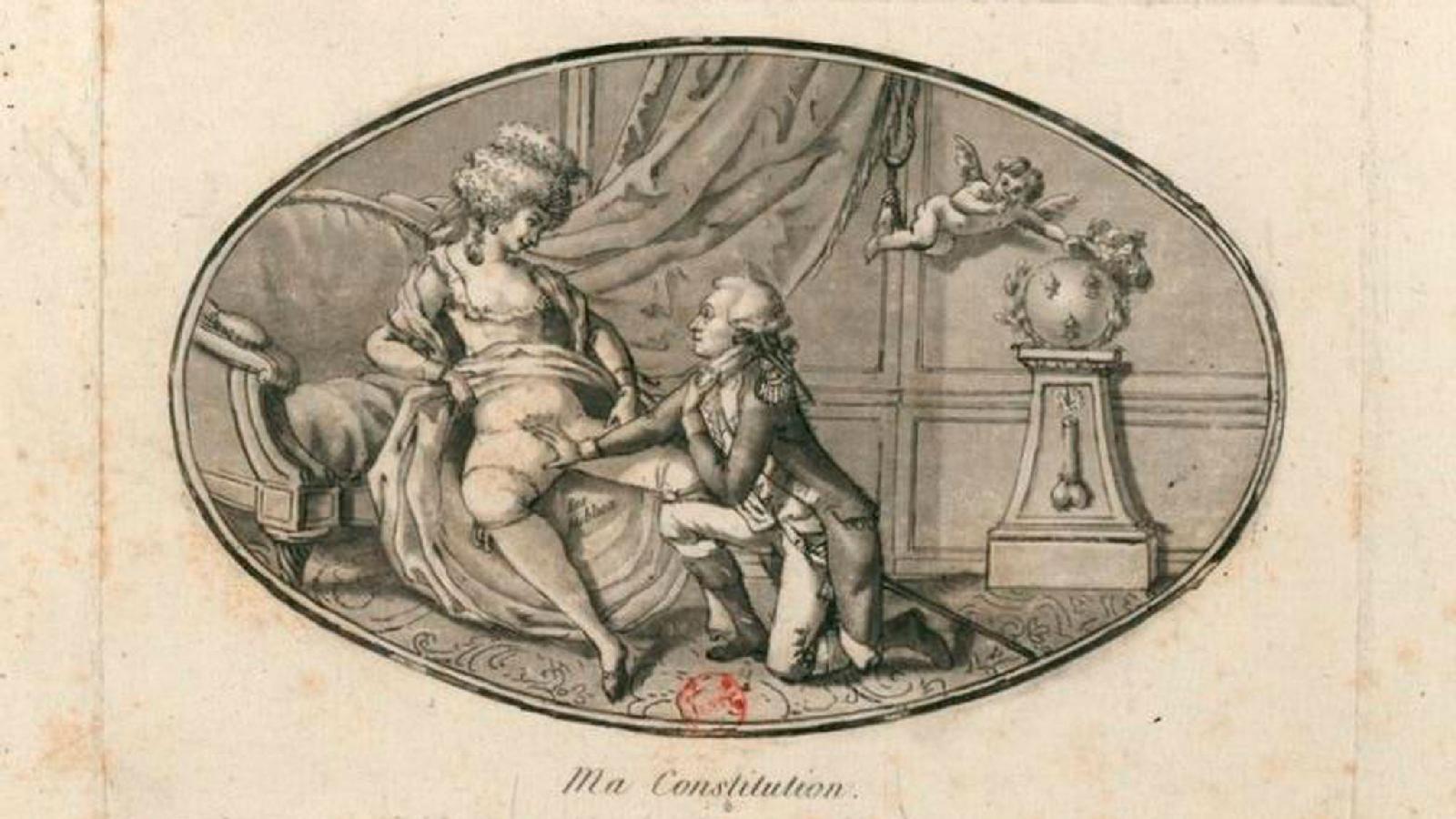 «Моя конституция» (1791). Неизвестный автор. Гравюра