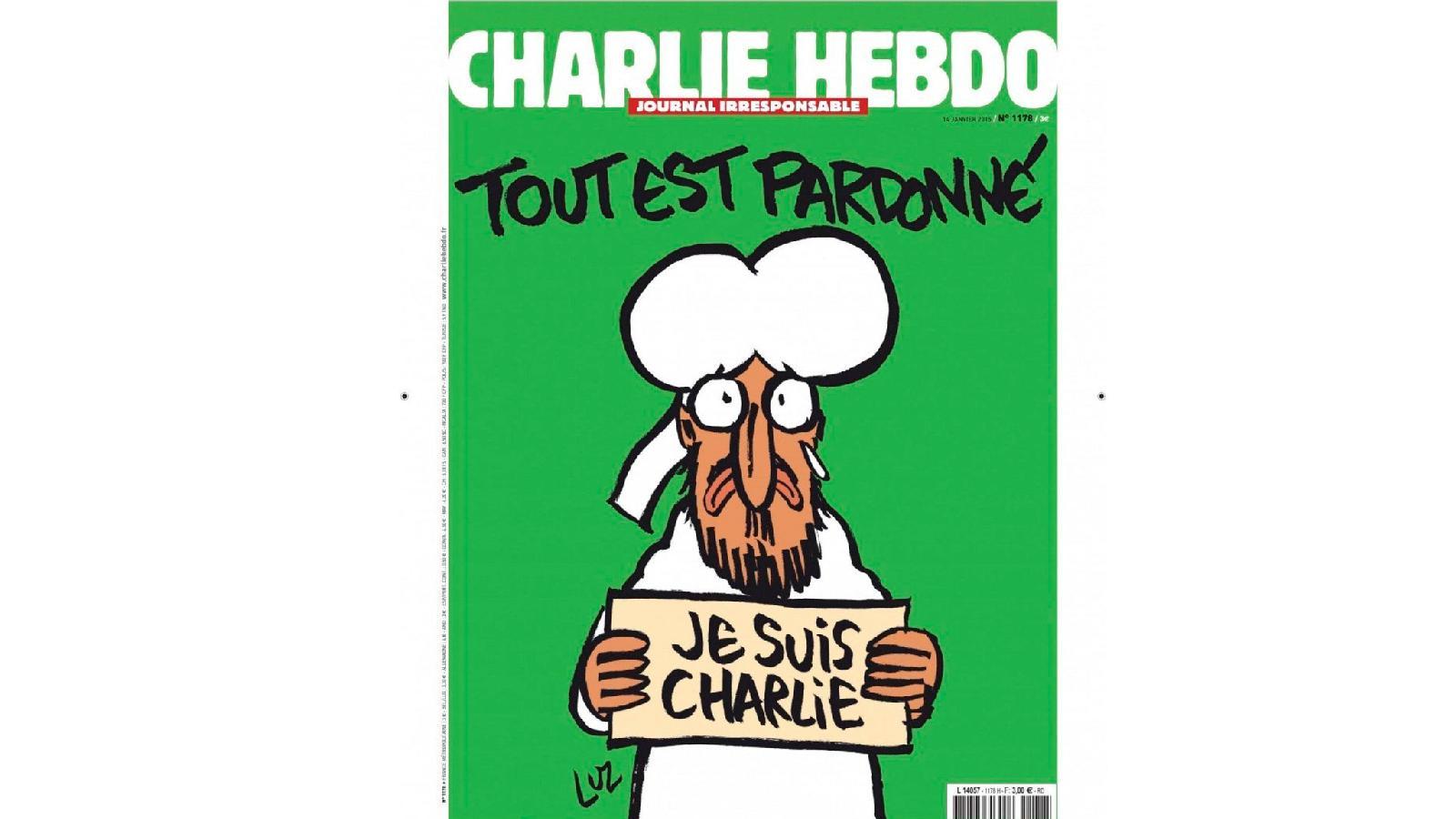 Обложка номера Charlie Hebdo от 14 января 2015 года, вышедшего через неделю после нападения на редакцию