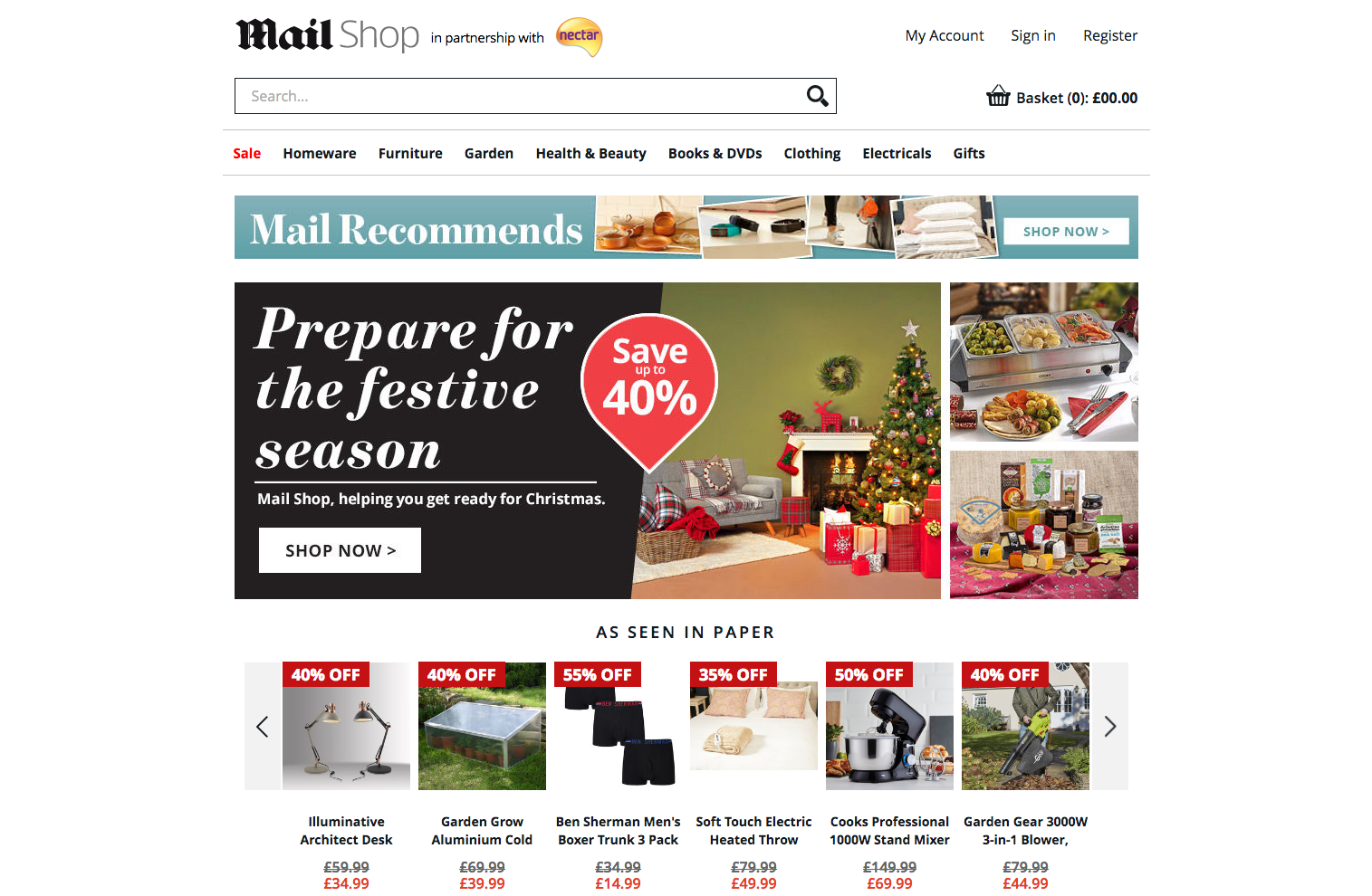 Магазин Daily Mail специализируется на продаже товаров для дома и сада