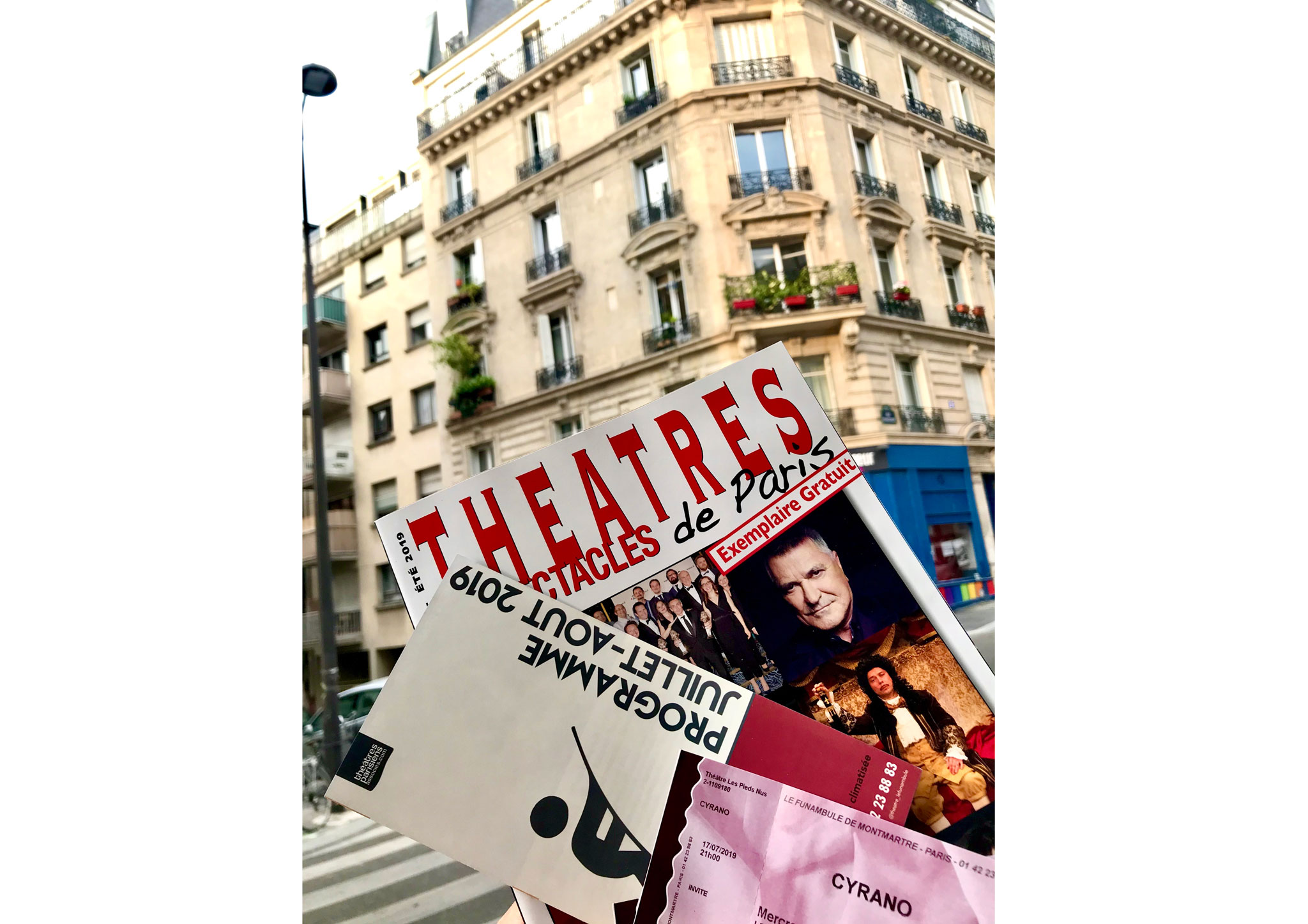 Билеты на спектакль «Сирано де Бержерак» («Cyrano»).  Театр на Монмартре Le Funambule.  Первая аккредитация.