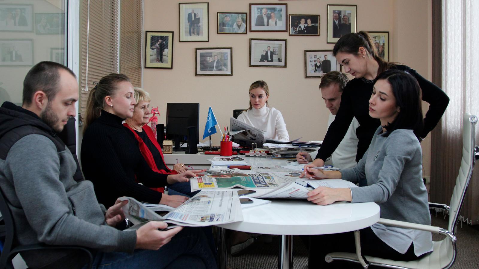 Планерка редакции «Крымской газеты»
