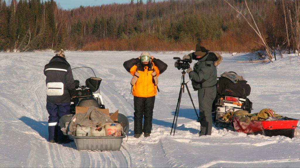 Команда Агентства новостей ТВ2 во время экспедиции по Томской области, фото из архивов редакции
