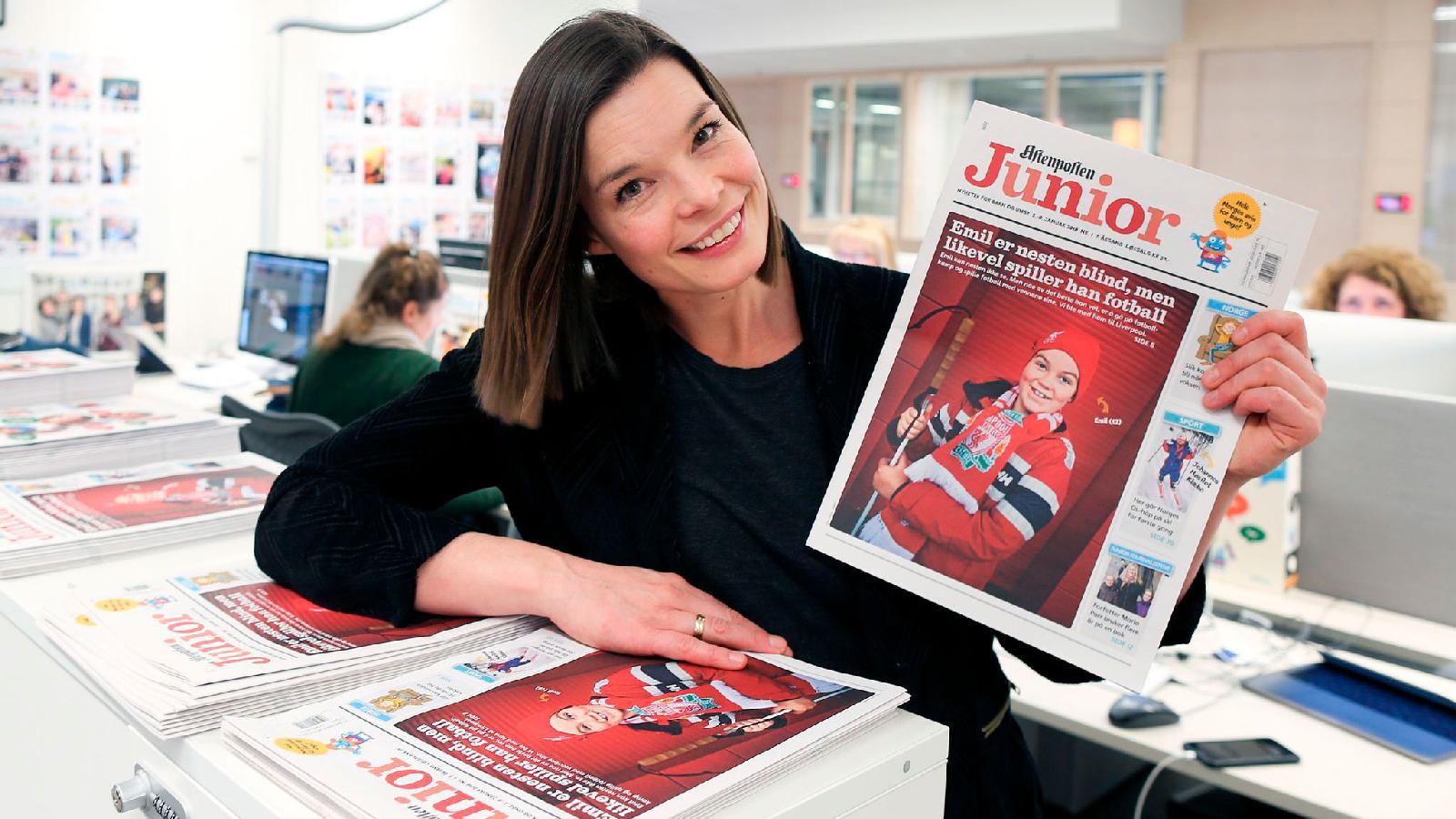 Aftenposten Junior пользуется у детей большим успехом. Тираж еженедельной газеты составляет 30 000 экземпляров