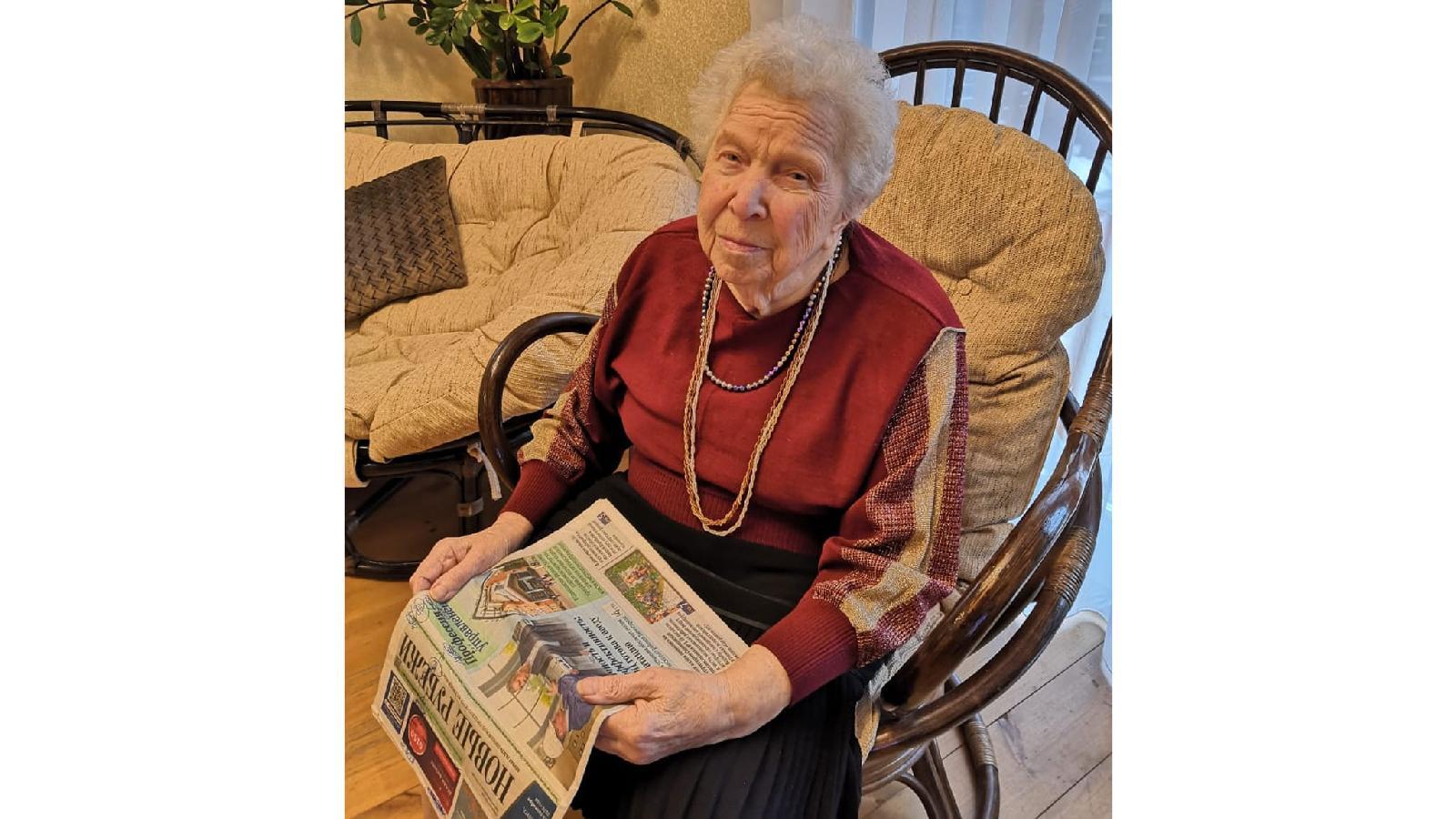 Надежде Герасимовне Сгибневой 91 год. «Новые рубежи» она читает почти всю жизнь: районку выписывали родители и старшие сестры, потом более пятидесяти лет сама, теперь газету ей приносят близкие