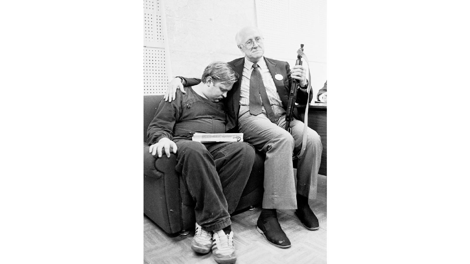Ростропович.  Белый дом,  ночь с 21 на 22 августа 1991