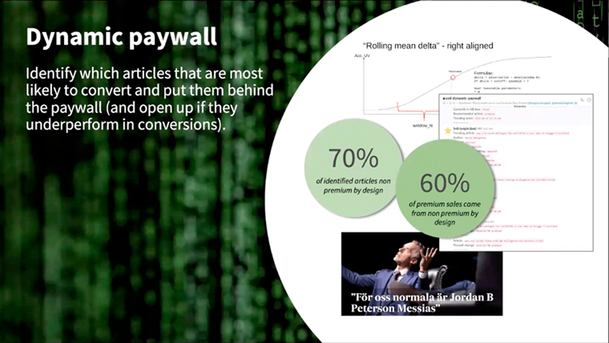 Важная часть стратегии Schibsted — грамотное распределение контента: одни статьи попадают в общий доступ, другие распространяются только по подписке