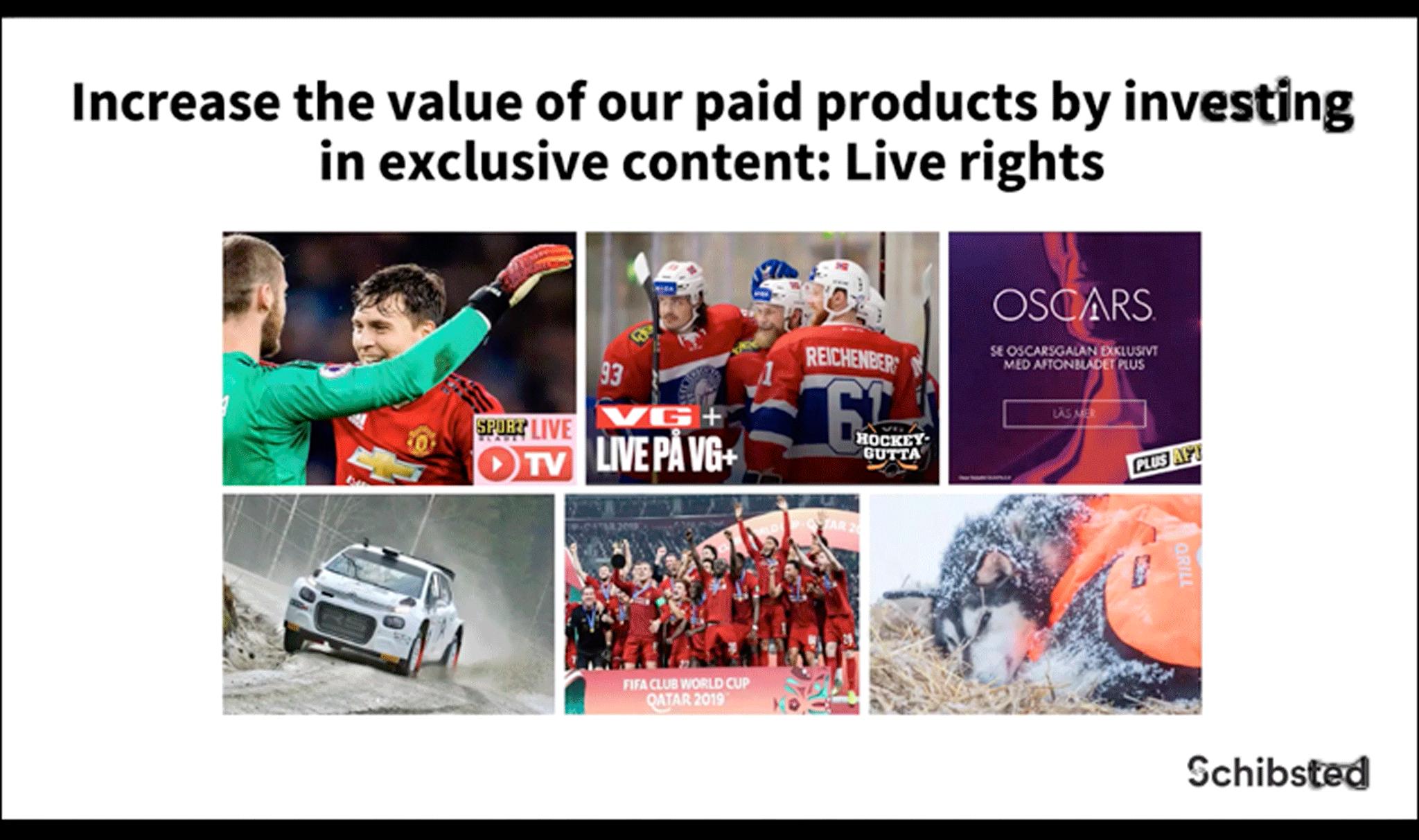 Schibsted увеличивает стоимость своих продуктов за счет эксклюзивного контента