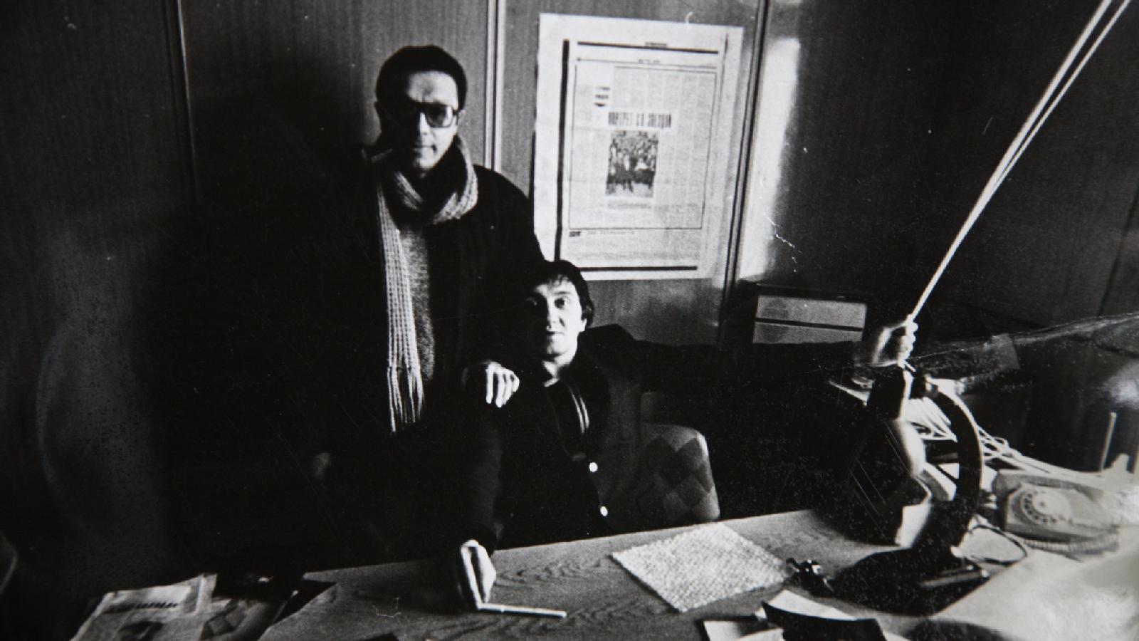 С Юрием Ростом. 1982 год