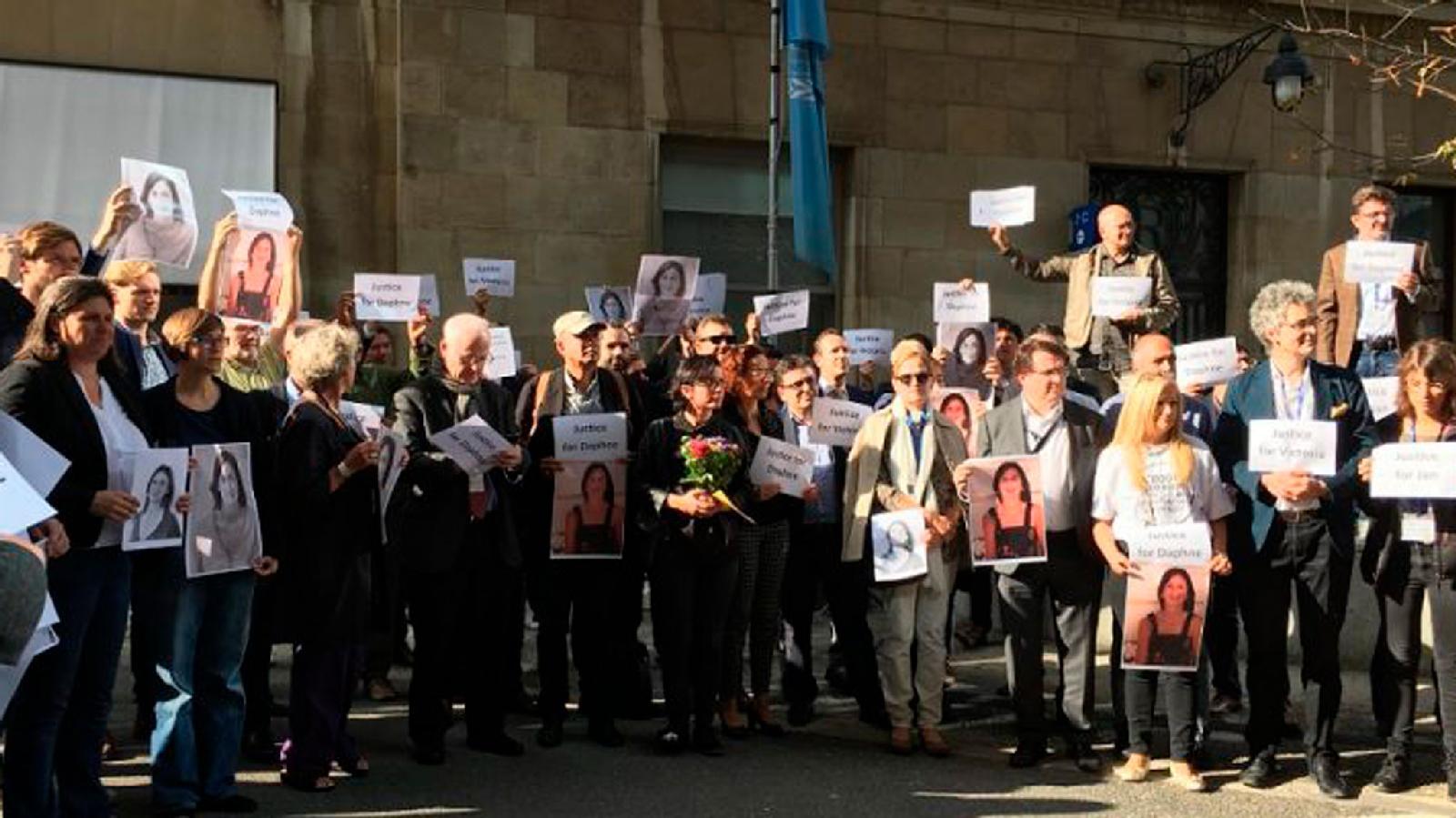 Акции с требованием расследования убийства Дафны Каруаны Галисии – Брюссель, Мальта