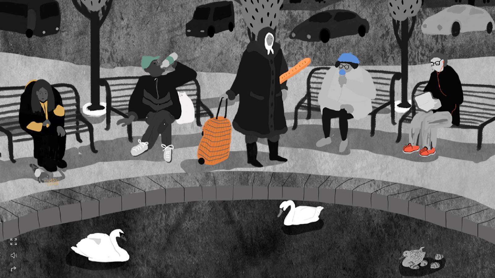Документальный интерактивный анимационный веб‑проект «жили|были» был подготовлен ко Дню бездомного человека