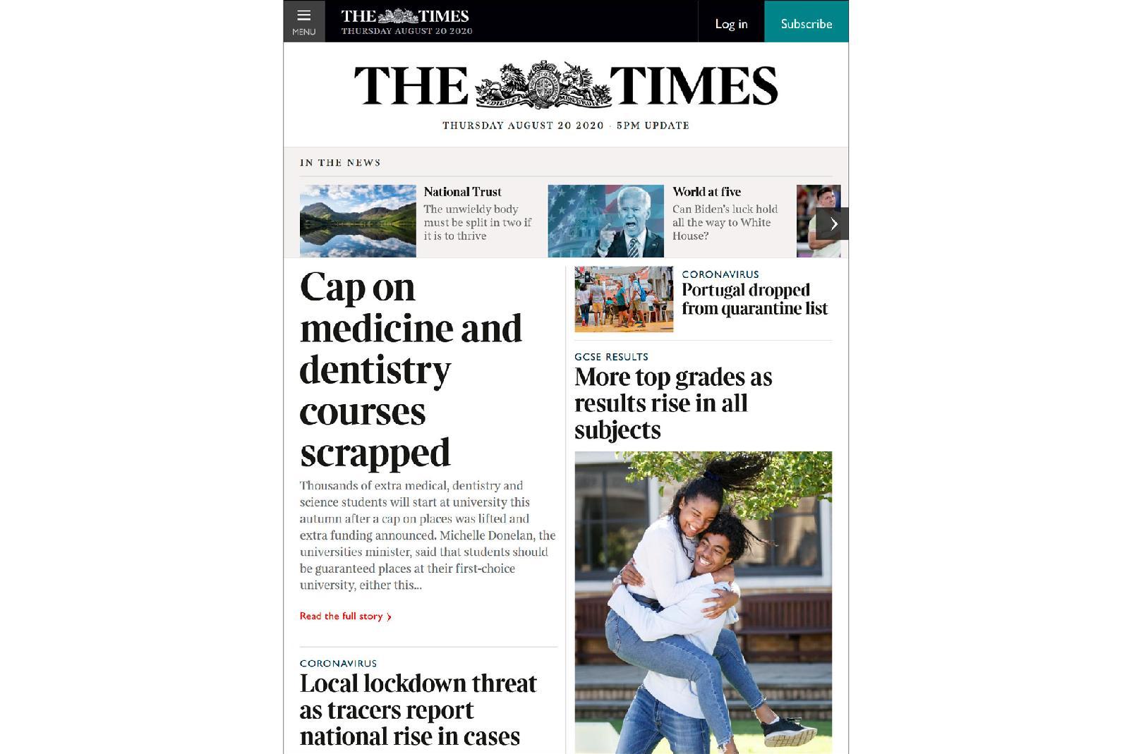 The Times сократила количество выпускаемого контента в онлайне на 10%, и количество просмотров увеличилось на 20% (25,34 млн просмотров в июле)