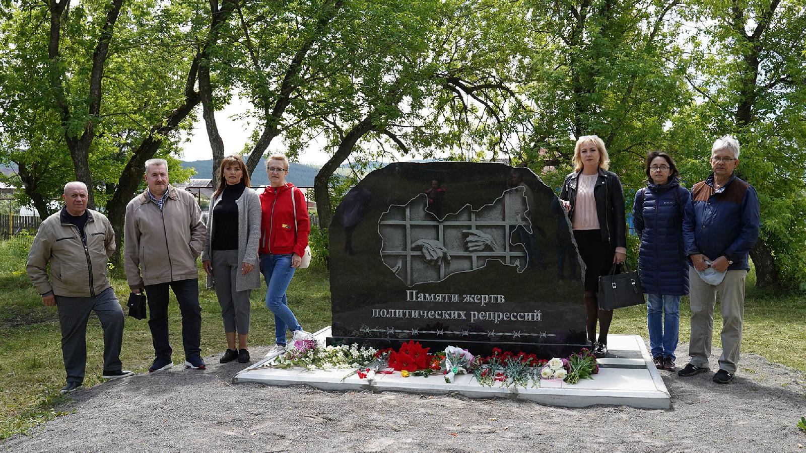 Итогом редакционного проекта «Право на доброе имя» стала установка памятника жертвам политических репрессий. Усть-Катав. 26 июня 2020 года