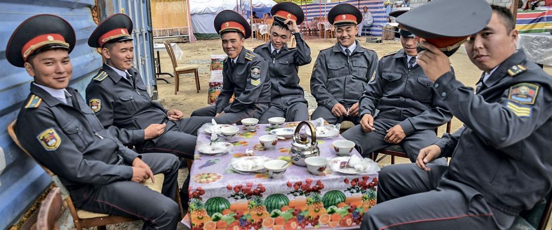 Отдых   правоохранителей.   Всемирные игры кочевников. Киргизия. 2016 год