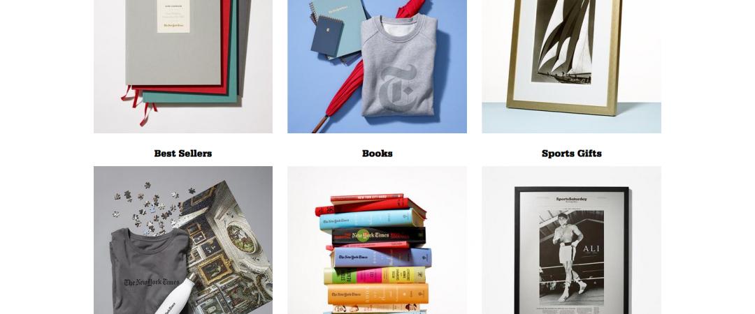 Магазин The New York Times продает уникальные подарки и сувениры