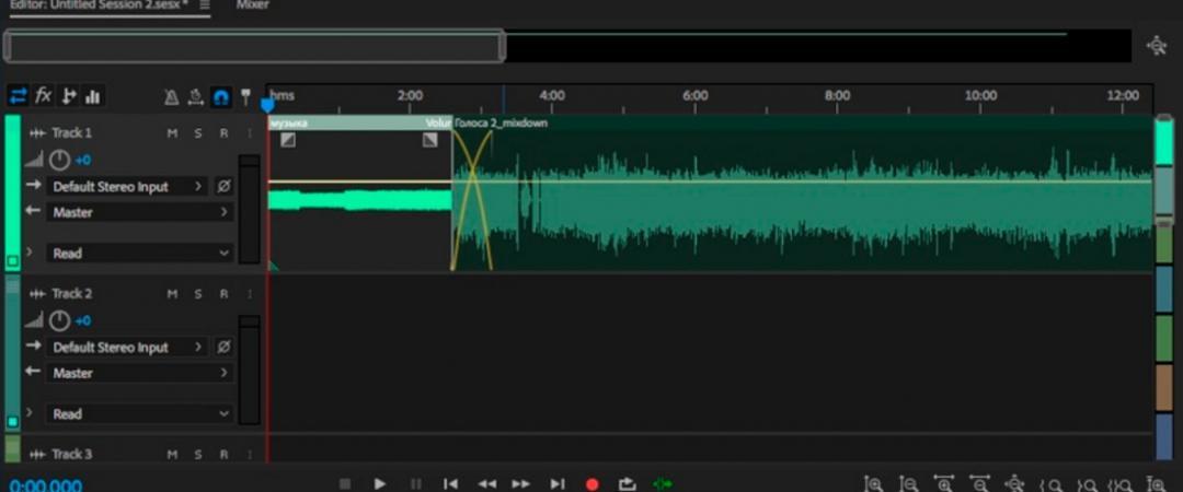 Интерфейс Audition может выглядеть страшно, но на деле звук монтируется по наитию