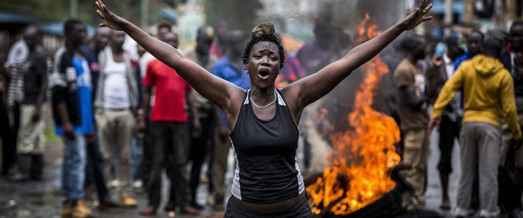 Луис Тато, «Беспорядки вКении после выборов». 1‑е место вноминации «Главные новости (серии)»
